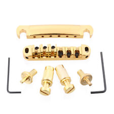 Gold Plated Roller Saddle Tune-O-Matic Bridge Tailpiece for Les Paul LP Guitar