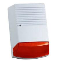 Große wasserdichte 115 dB rote blinkende LED  Sirene,  blitzlicht, Außenbereich