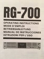 Sansui RG-700 Stereo Equalizer Original OWNERS MANUAL Multi Language  rg700