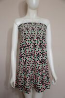 Juicy Couture Green Polka Dot Strapless Dress Small S