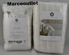 Hotel Collection Plume STANDARD Quilted Pillowshams Set White