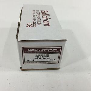 Marsh Bellofram 960-015-000 T10 2-120PSI Pneumatic Pressure Regulator
