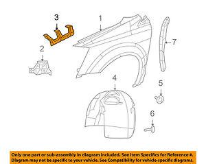 VW VOLKSWAGEN OEM 09-14 Routan Fender-Center Bracket Left 7B0821155