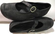 Women's KEENS Black Oiled Nubuck Leather Mary Janes Sz 7M/EUR 37.5/UK 4.5 MINT!