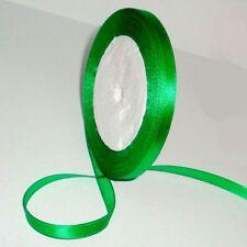 "Free shipping 1/4"" 25yds green Satin Ribbon Wedding Party Bow Craft Supply"