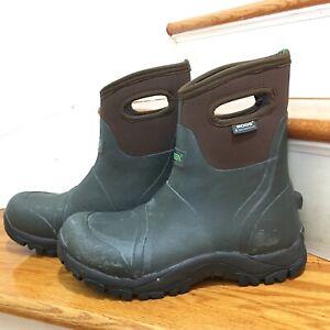 Size 10 Bogs Workman Mid Composite Toe Work Boot - Men's trugreen weatherproof