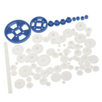 69pcs Plastic Drive Toy Gears Worm Accessories for DIY RC Car Motor Robot