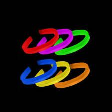 """80 8"""" Glow in the Dark TWISTER Light Bracelets Assorted"""