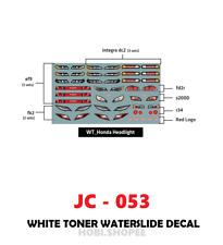 JC-053 White Toner Waterslide Decals>HONDA HEADLIGHT> For Custom 1:64 Hot Wheels