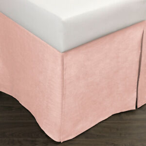 Amity Home DAMARA LINEN BED SKIRT, PETAL PINK, QUEEN Pleated NWT