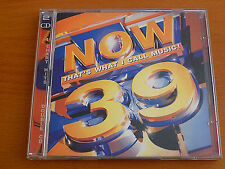 NOW THAT'S WHAT I CALL MUSIC 39 - VARIOUS ARTISTS CD 1998 2 Discs UK Emi- Virgin
