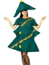 Ladies or Mens Festive Christmas Tree Costume Fancy Dress One Size