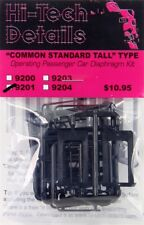 Hi-Tech Details 9201 x HO Black Common Standard Tall Passenger Car Diaphragm Kit
