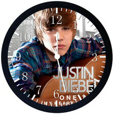 Justin Bieber Black Frame Wall Clock Nice For Decor or Gifts Z115