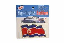 NORTH KOREA COUNTRY  FLAG BUMPER STICKER FLAG-TASTICK EMBLEM..SIZE: 3.5 X 2 INCH