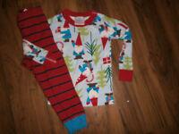 Hanna Andersson Gnome Christmas Boy  Pajamas Sz 90 US 3