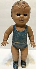 "Tod-L 1953 Barberton. O. Usa Vintage Sun Rubber Blue Suit Doll 8"" tall"