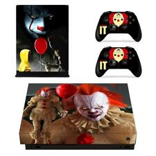 Xbox one X Console Vinyl Skin Stephen King's It  Decal Sticker Covers Wraps
