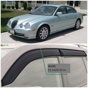 JE20599 Window Visors Guard Vent Wide Deflectors For Jaguar S-type Sd 1998-2008