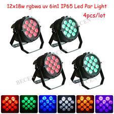 Led Waterproof PAR 12x18w RGBWA UV 6in1 LED PAR Stage DJ Lighting For Party 4pcs