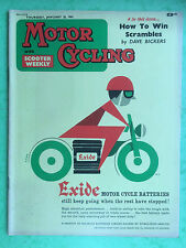 Motor Cycling avec scooter hebdomadaire - Jan 26,1961 - 500 greeves-triumph