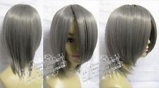 Cosplay wig party wigs Cos Short Dark gray Wig