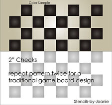 """Primitive Checkerboard Stencil Gameboard 2"""" Check Squares Country Family Signs"""