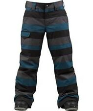 Burton Boys The White Collection Throttle Snowboard Pants (M) Meltwater Stripe
