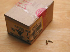 New listing Solid Brass,#0 Flat.Hd. Screws,100ea, Sealed in Factory Box, New, Made in U.S.A.