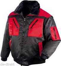 rot-schwarze Pilotenjacke Gr. XL Arbeitsjacke Jacke Winter