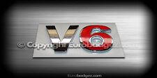 1 - NEW 3D Adhesive V6 Chrome Rear Badge Emblem fits VW AUDI Chrome Red V6 1INB