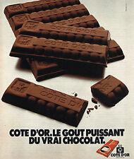 PUBLICITE  1977   COTE D'OR  chocolat