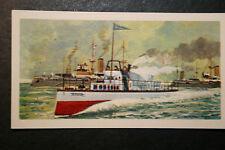 TURBINIA    Naval Steam Turbine Vessel  Colour Card  VGC
