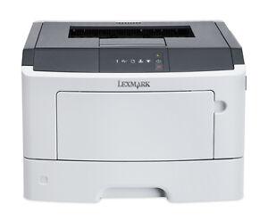 Lexmark MS310dn laser printer, duplex, lan, 35ppm, small desktop size, 90-day