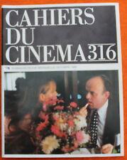 Cahiers du Cinéma ✤ N°316 de 1980 ✤ Godard / Truffaut / Effets spéciaux...