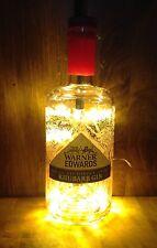 WARNER EDWARDS Pink Gin Bottle Light - Bar Lamp Garden Wedding House Warming