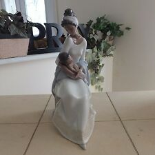 Lladro A Mother'S Embrace # 6851 Mother & Baby Mint Condition Fast Shipping!