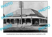 OLD 8x6 PHOTO GOONDIWINDI RICKARDS PHOTOGRAPHY STORE HERBERT St c1920