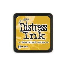 Tim Holtz - Mini Distress Ink Pad - FOSSILIZED AMBER - Yellow
