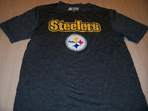 MAJESTIC COOL BASE PITTSBURGH STEELERS GRAY ACTIVEWEAR SHIRT MENS SMALL EXC.