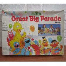 Vintage SESAME STREET Vreat Big Parade Children's Board Game * COMPLETE *
