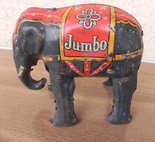 Blomer & Schüler, Germany - Tin Jumbo Elephant with clockwork motor, jouet tole