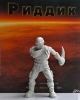 Riddick Figure Hard plastic 1/32 Height 55mm Handmade