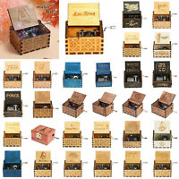 Vintage Wooden Music Box Harry Potter Game of Thrones Star Wars Engraved Boxes