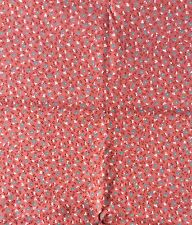 Small Floral Cotton Twill Sewing Fabric Plum Pink NOS