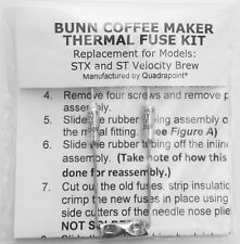 Repair Your Bunn Coffee Maker ~ Water not Heating? Thermal Fuse Kit (STX & ST)