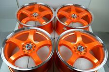 17 orange Wheels Rims Mazda 3 5 6 Soul Impreza Matrix Civic Accord 5x100 5x114.3