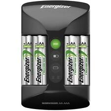 Caricabatterie ENERGIZER + 4 stilo ricaricabili 2000 mAh ALLARME PILE GUASTE