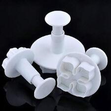 3pcs Hydrangea Fondant Cake Decorating Sugarcraft Plunger Cutter Flower Style C