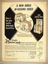 Amfile Platter-Pak Record Cases PRINT AD - 1965 ~~ Amberg File & Index Co.
